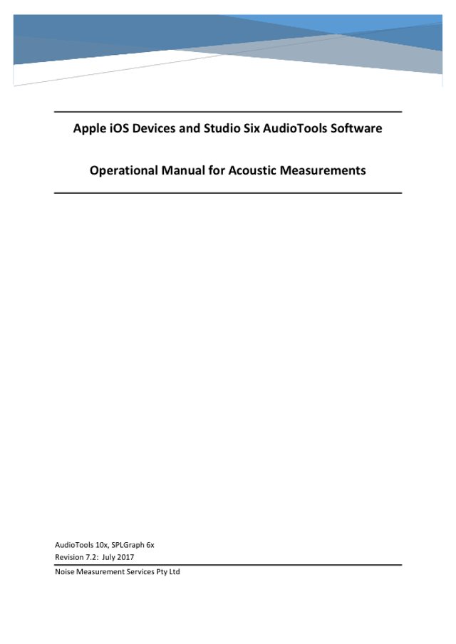 Apple iOS Devices and Studio Six AudioTools Software